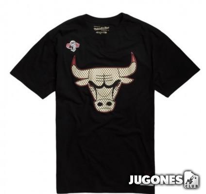 Camiseta Gold Logo Jordan Bulls Negro
