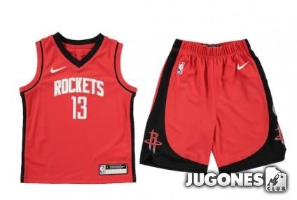 Conjunto NBA Kids James Harden Houston Rockets