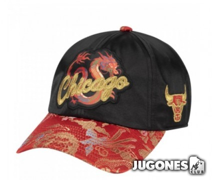 CHICAGO BULLS NEW DAWN DAD MEN BLACK HAT HWC STRAPBACK
