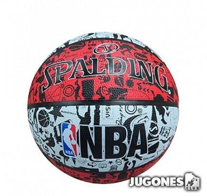 Balón Spalding NBA Grafitti