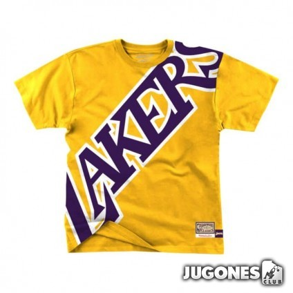 Big Face Tee Angeles Lakers