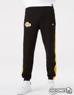 Pantalon Angeles Lakers NBA Team Logo Raye Black Joggers