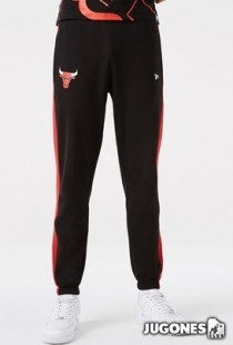 Pantalon Chicago Bulls NBA Team Logo Raye Black Joggers