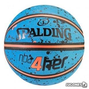 Balon Spalding 4her splatter Talla 6