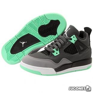 Nike Air Jordan 4 Retro Green Glow (PS)