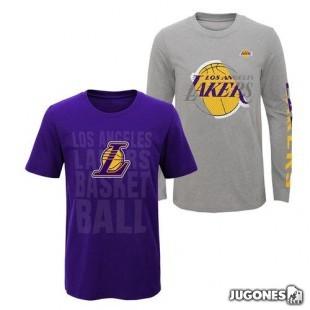 Camiseta 3 en 1 Angeles Lakers