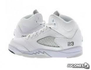 Air Jordan 5 Retro BP `Total White`