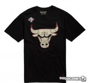 Gold Logo Tee Black Jordan Bulls