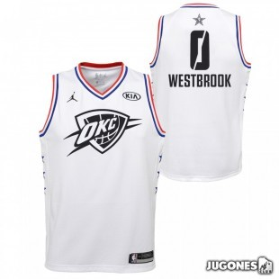 Camiseta All Star Rusell Westbrook Blanco Jr