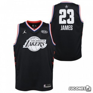 Camiseta All Star Lebron James Negro Jr