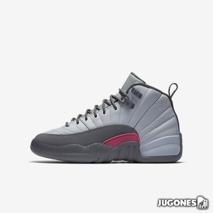 Air Jordan 12 Retro `Wolf Grey/Vivid Pink` GS