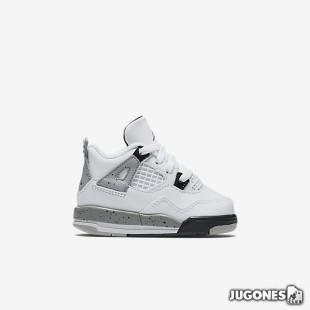 Nike Air Jordan 4 White Cement TD
