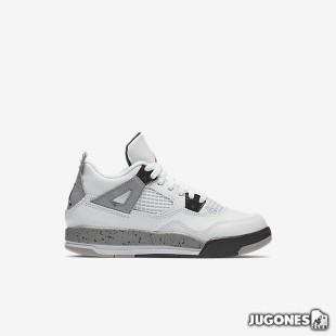 Nike Air Jordan 4 White Cement PS