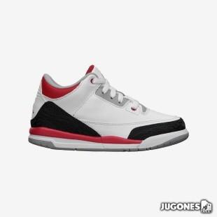 Nike Air Jordan 3 Fire Red (PS)