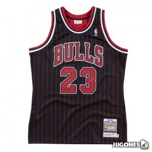Authentic Jersey Chicago Bulls 1995-96 Michael Jordan