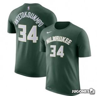 Camiseta Giannis Antetokoumpo Milwaukee Bucks Jr