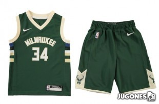 Conjunto NBA Kids Giannis Antetokounmpo Milwaukee Bucks
