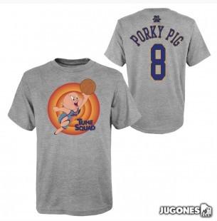 Porky Pig Space Jam Tune Squad Short Sleeve T-Shirt