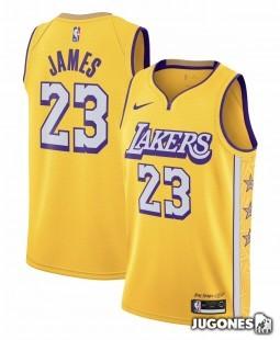 City Edition Ángeles Lakers Lebron James Jr
