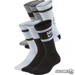 Pack 6 Nike Everyday socks