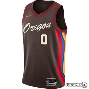 Camiseta Portland Trail Blazers City Edition Damian Lillard