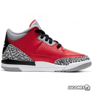 Jordan 3 Retro (PS) Red Cement