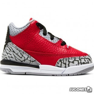 Jordan 3 Retro (TD) Red Cement
