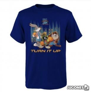 Camiseta Space Jam Turn It Up Tunes
