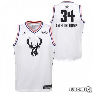 Camiseta All Star Giannis Antetokounmpo Blanco Jr