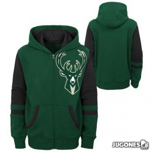 Full Zip Milwaukee Bucks Jr