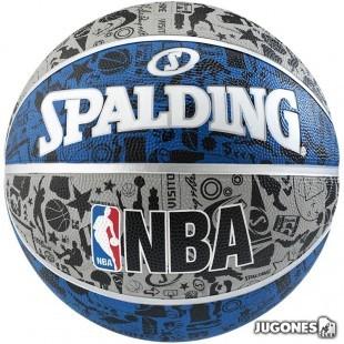 Balon Spalding NBA Graffiti talla 7