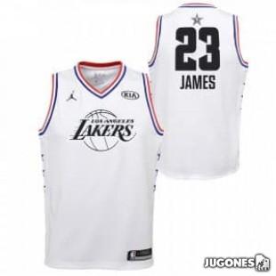 Camiseta All Star Lebron James Blanco Jr