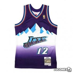 Camiseta Utah Jazz John Stockton Jr 1996-1997