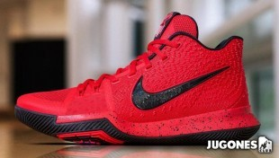 Kyrie 3`University Red Black`