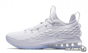 Lebron XV Low White Metalic