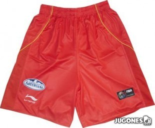Red shorts Spanish team