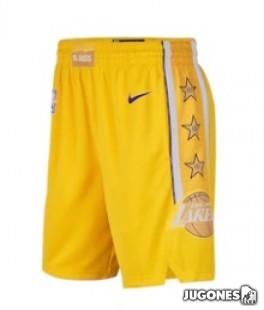 Pantalon Angeles Lakers City Edition Jr