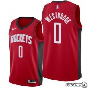 Big Kids` NBA Houston Rockets Rusell Westbrook  Jersey