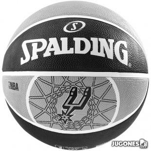 Balon Spalding team balls San Antonio Spurs (talla 5)