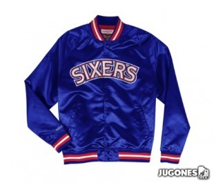 Philadelphia 76Ers Lightweight Satin Jacket (verde)