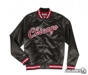 Mitchell & Ness Chicago Bulls  lightweight Satin Jacket (green)