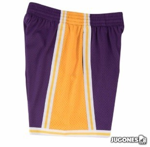 Swingman Angeles Lakers short Road 84-85