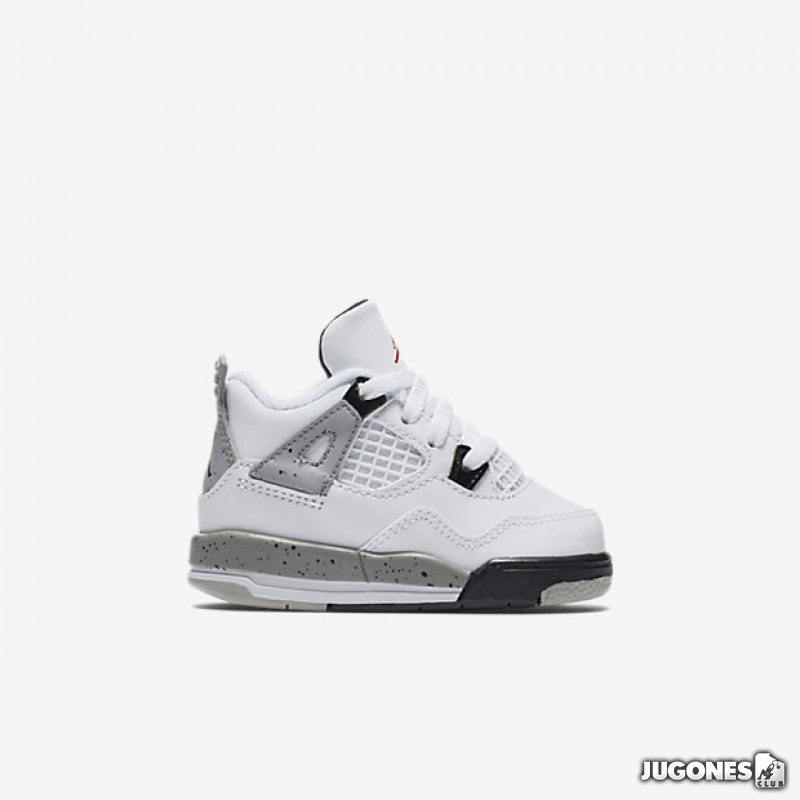 02e3f48e929349 Nike Air Jordan 4 White Cement TD