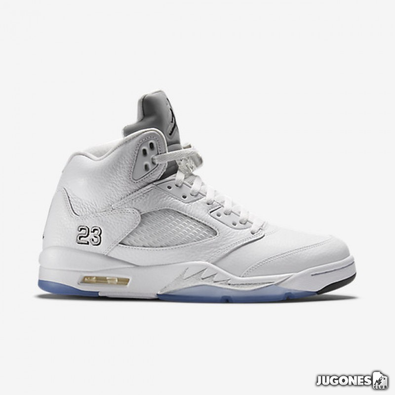 best sneakers 70c8f 98568 Nike Air Jordan 5 Retro White Metallic