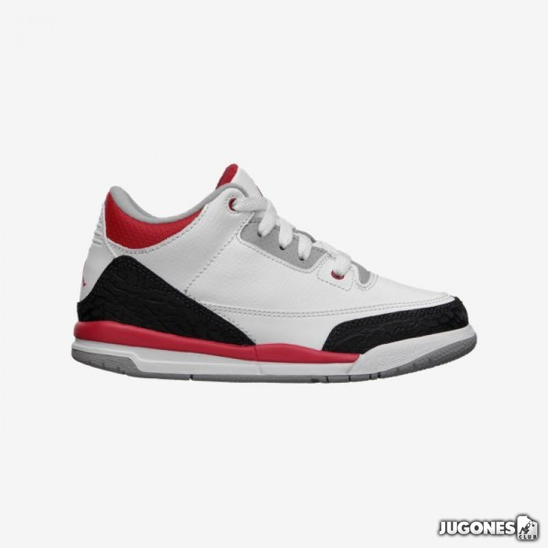 wholesale dealer 00b96 e1e06 Nike Air Jordan 3 Fire Red (PS)
