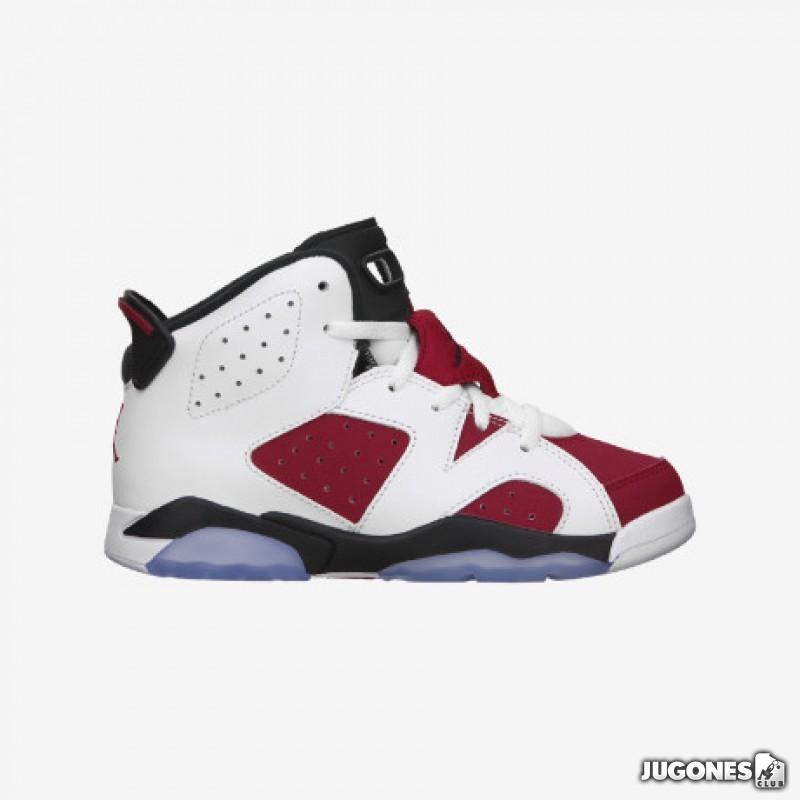 5186f87d3372 Air jordan 6 for kids retro white red black