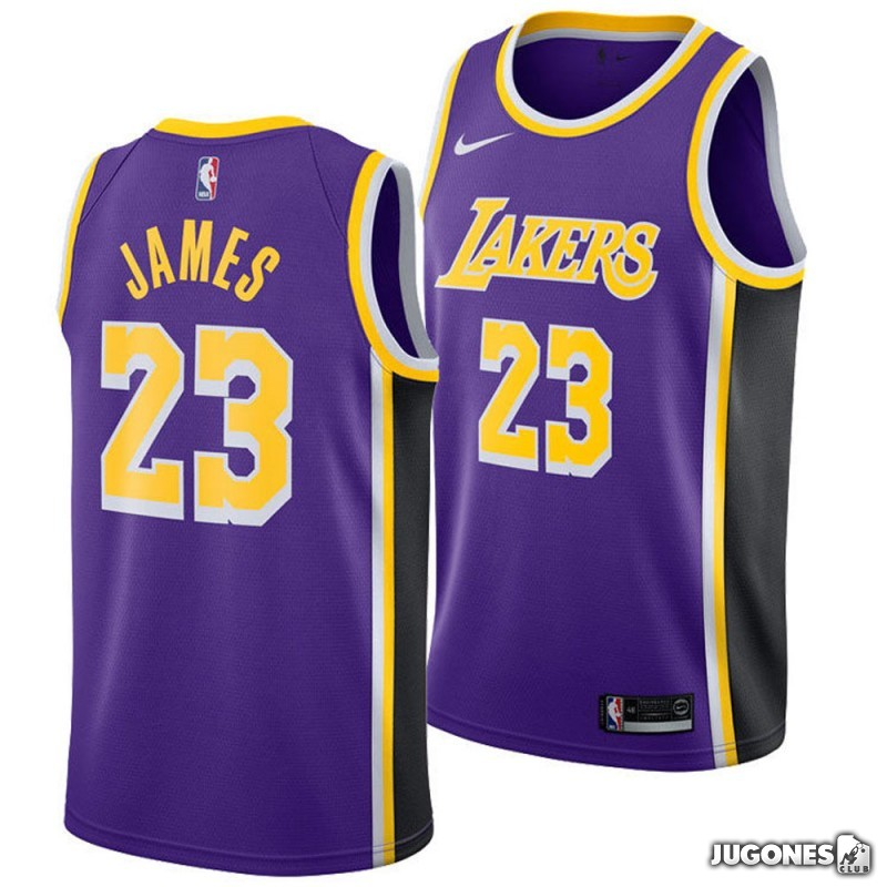 promo code 468a3 c36e6 NBA Angeles Lakers Lebron James Jersey