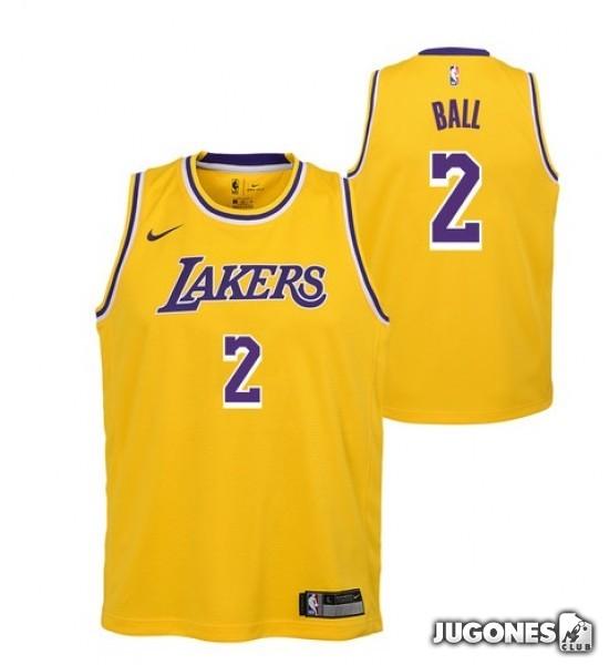 free shipping 07a7e d6748 Lakers T-Shirt Lonzo Ball