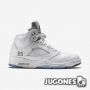 Nike Air Jordan 5 Retro White/Metallic