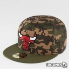 Gorra New Era Camo Bulls